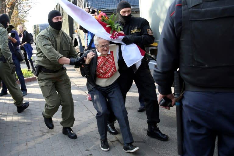Nina Baginskaya was briefly detained on Saturday