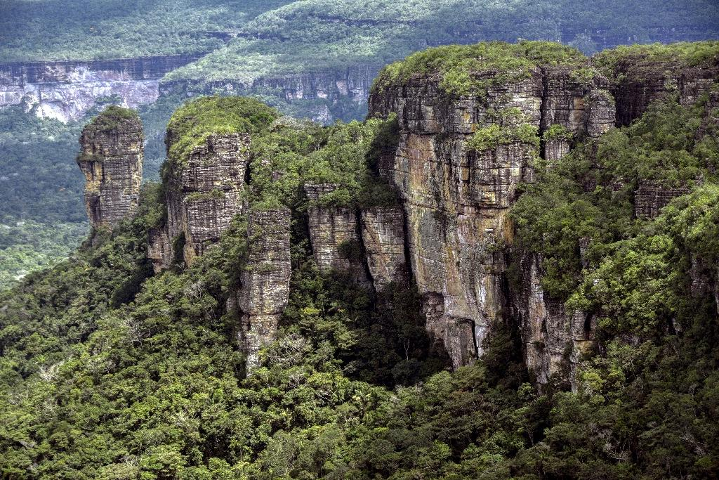 The Serrania de Chiribiquete table top mountains stand tall like giant drums in the heart of the Guaviare jungle, a strategic area that armed groups continue to fight over (AFP Photo/GUILLERMO LEGARIA)
