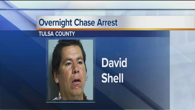 Man arrested after chase