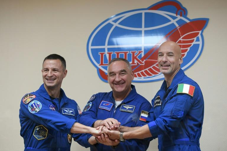 Soyuz MS-13 with three crew members on board docks with ISS