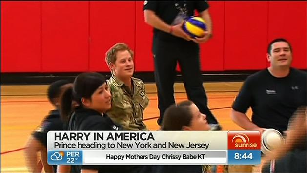 Harry shows support for soldiers