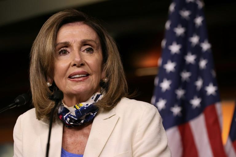 Speaker of the House Nancy Pelosi has demanded the FBI brief the Congress on what she said were serious and specific foreign threats to the US 2020 elections (AFP Photo/CHIP SOMODEVILLA)
