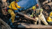 Twenty now dead in California mudslides, major highway closed