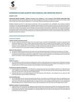 ShaMaran Second Quarter 2020 Financial and Operating Results