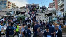 Tsunami Warning in Turkey After 7.0 Quake Levels Buildings in Coastal City of Izmir
