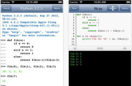Python 3.2 lets you write Python on the iPhone