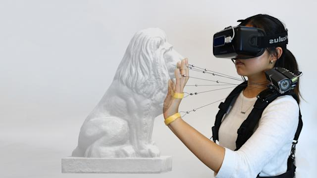 This VR system tethers your hands to your shoulders to improve haptics