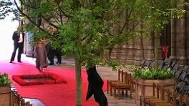 Verger cartwheels down royal wedding aisle