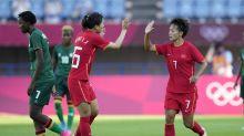 Wang scores 4, China draws 4-4 with Zambia in women's soccer