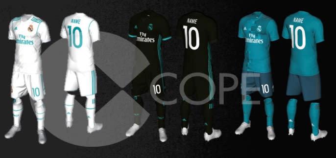 Mudança radical  novo uniforme do Real tem azul como protagonista 38691636b7c25