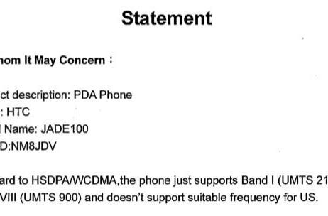 HTC Touch 3G earns its FCC wings