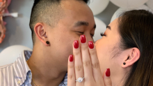 This woman's engagement photo went viral for a hilarious reason