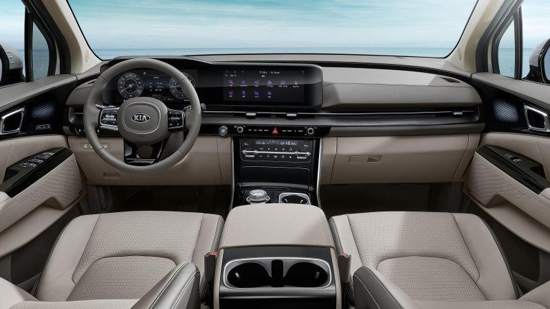 Kia Sedona shows off new 'comfortable and futuristic' interior