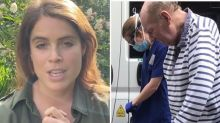 Princess Eugenie chokes up in emotional video message