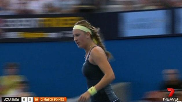 Azarenka advances in Brisbane