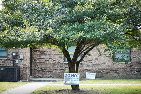 FILE PHOTO - Environmental Protection Agency signs are seen at the West Calumet Complex in East Chicago