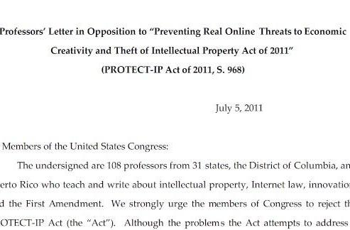 PROTECT IP Act called unconstitutional by bipartisan group of law professors