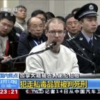 US says China's death sentence against Canadian political