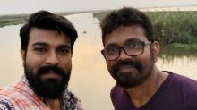 Fans mob shooting spot of Ram Charan-Sukumar film; Shoot halts for a day.