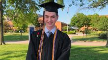 Barred from speaking at graduation, high school valedictorian gave his speech outside