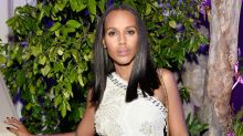 Kerry Washington Looks Fierce in White Mini Dress at Balmain Party -- See the Look!