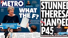 'Disaster, farce, shambles!' How the papers reacted to Theresa May's chaotic Conservatives conference speech