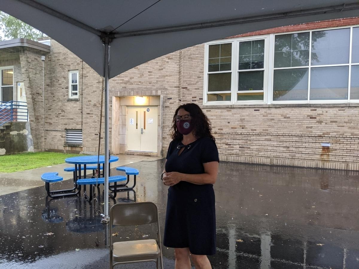 Milford Superintendent of Schools Anna Cutaia was beaming as she spoke about being reunited with students after nearly six months apart due to the coronavirus pandemic.