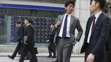 Global shares advance, cheered by Wall Street buying spree