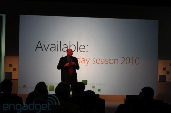 Live from Microsoft's Windows Phone 7 launch event