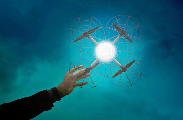 Intel unveils a drone made for aerial light shows