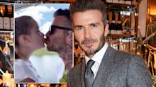 Piers Morgan still isn't impressed about David Beckham kissing his daughter Harper on the lips