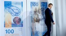 Swiss National Bank declines comment on franc strength while unveiling new note