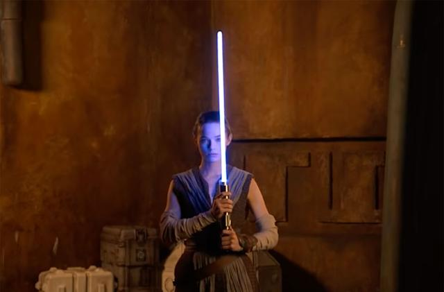 Disney offers a very brief glimpse of a 'working' lightsaber