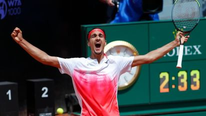 Tennis-Local hope Sonego stuns Rublev in Rome to set up Djokovic semi