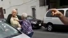 Pensioners in furious row over disabled parking bay