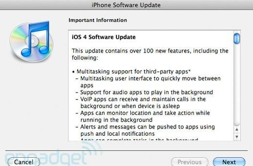 iOS 4 now available for your iPhone 3G, 3GS, newer-generation iPod touches