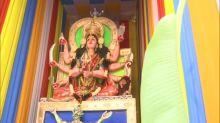 Hyderabad Pandal Features 31 Feet Tall Goddess Durga Slaying the 'Coronasura'
