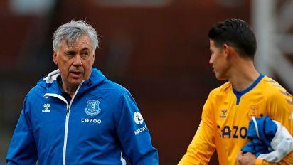 Carlo Ancelotti-James Rodríguez, una relación de 'padre e hijo' para que Everton que se les anime a los gigantes en la Premier League