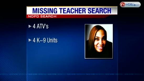 Police, family search for missing teacher