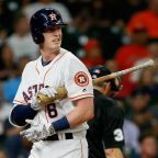 Astros' Moran leaves baseball game with scary facial injury