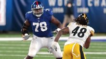 """Andrew Thomas knows Giants OL """"wasn't up to par"""" in Week One"""