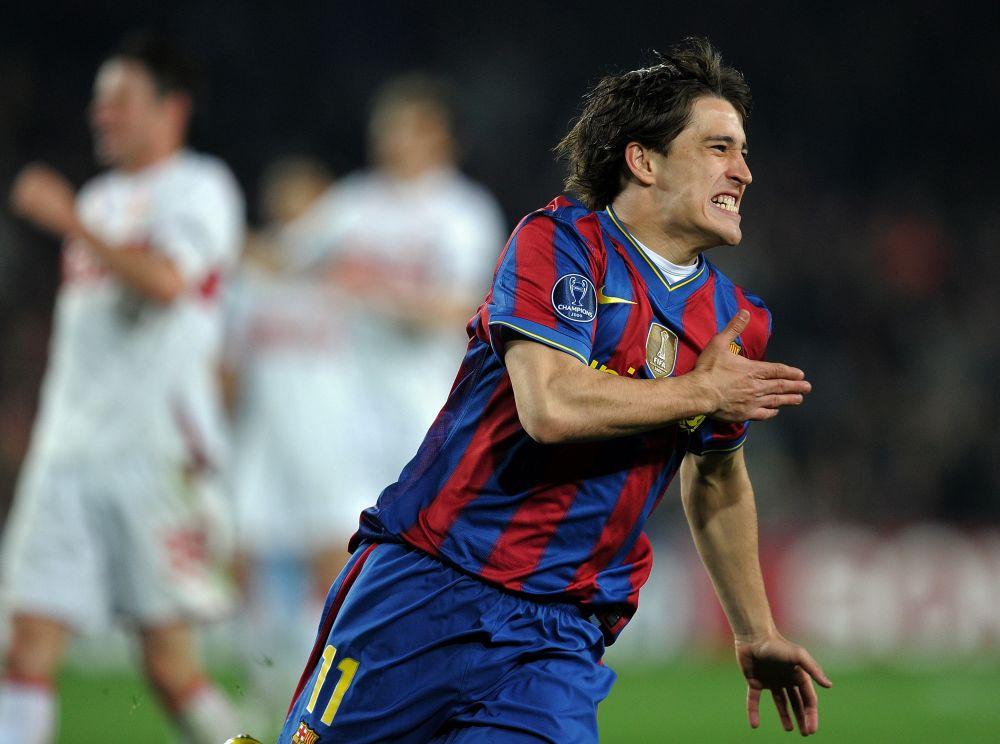 Bojan recuerda su primer gol con el Barcelona