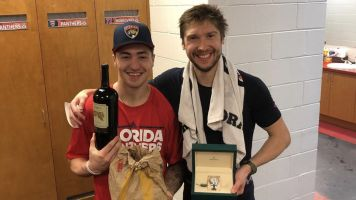 Bobrovsky pays up to get No. 72 from teammate