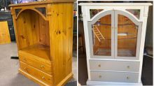 Bunnings mum transforms TV unit into stunning birdcage