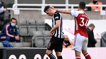 Newcastle fail in bid to have Fabian Schar's red card overturned