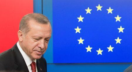 Erdogan says eu presented turkey with new 12 month diplomatic turkish president recep tayyip erdogan arrives to greet european council president before a meeting at the m4hsunfo