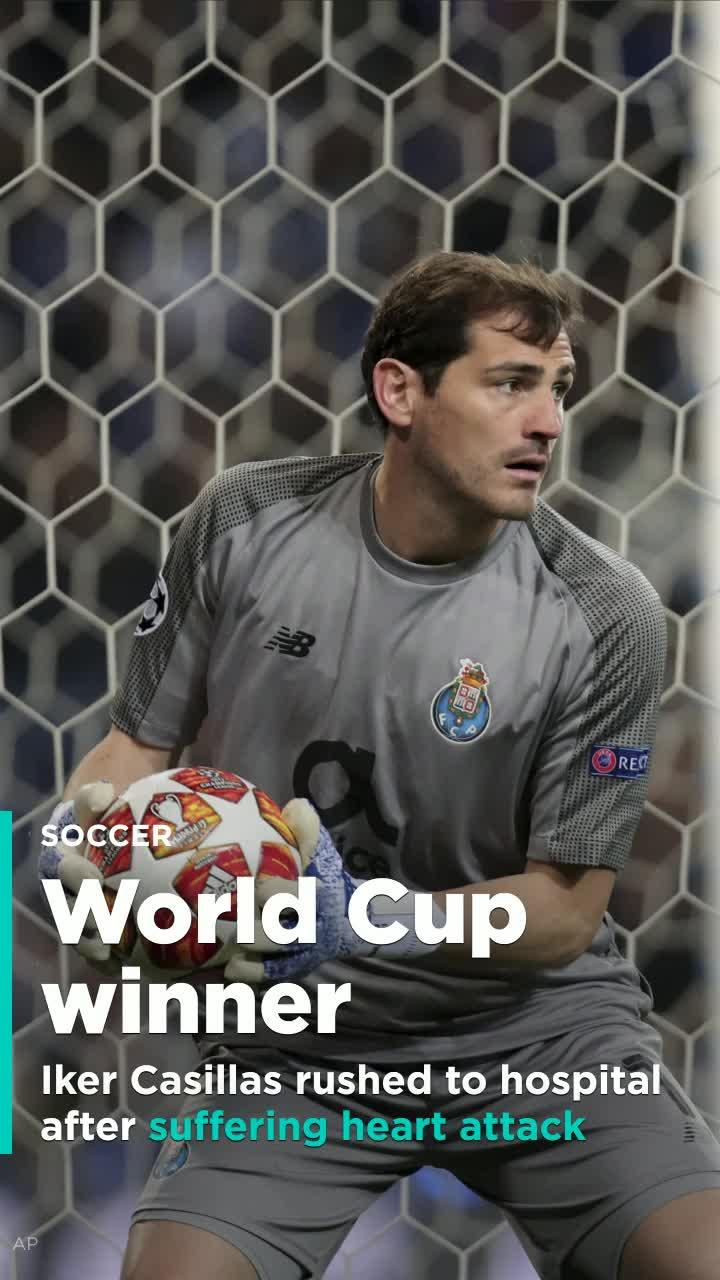 9871b1b4f73 FC Porto goalkeeper Iker Casillas rushed to hospital due to heart attack  suffered during training [Video]