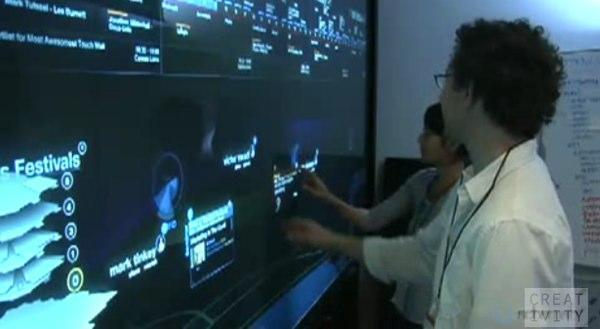 Schematic's Cannes touchwall identifies users via RFID, almost escapes gimmick status