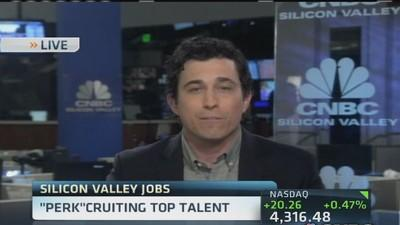 Silicon Valley 'perk-cruiting' top talent