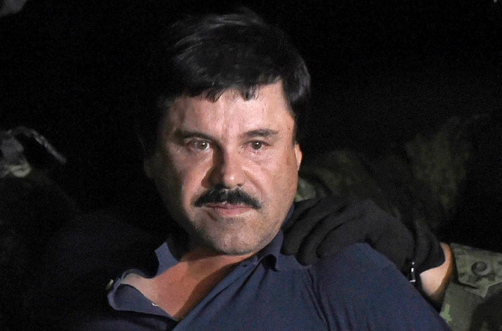 """The verdict could result in life behind bars for Joaquin """"El Chapo"""" Guzman, who was accused of smuggling tons of cocaine, heroin, methamphetamine and marijuana into the United States over a 25-year period (AFP Photo/ALFREDO ESTRELLA)"""